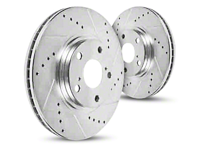 Hawk Performance Sector 27 Drilled & Slotted Rotors - Front Pair (07-18 Sierra 1500)
