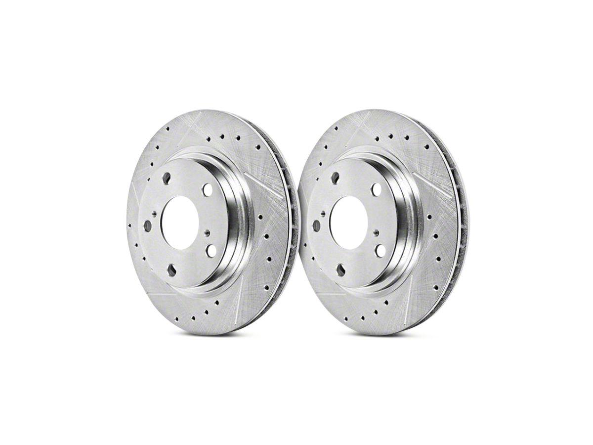 Cross Drilled Rotors >> Power Stop Evolution Cross Drilled Slotted Rotors Rear Pair 07 13 Sierra 1500 W Rear Disc Brakes 14 18 Sierra 1500