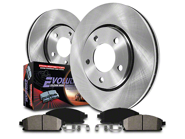 Power Stop OE Replacement Brake Rotor & Pad Kit - Front & Rear (07-13 Sierra 1500 w/ Rear Disc Brakes)