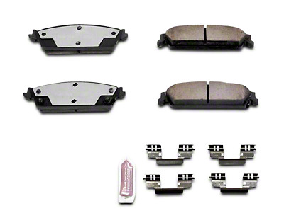 Power Stop Z36 Extreme Truck & Tow Carbon-Ceramic Brake Pads - Rear Pair (07-13 Sierra 1500 w/ Rear Disc Brakes)