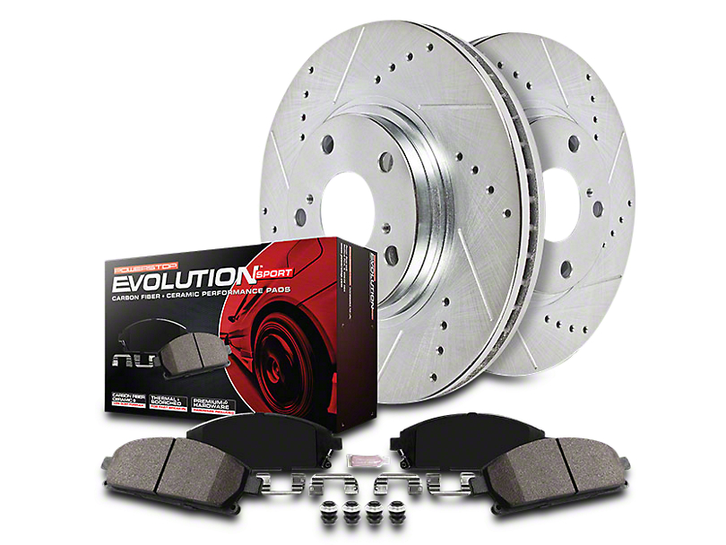 Power Stop Z23 Evolution Sport Brake Rotor & Pad Kit - Front & Rear (14-18 Sierra 1500)