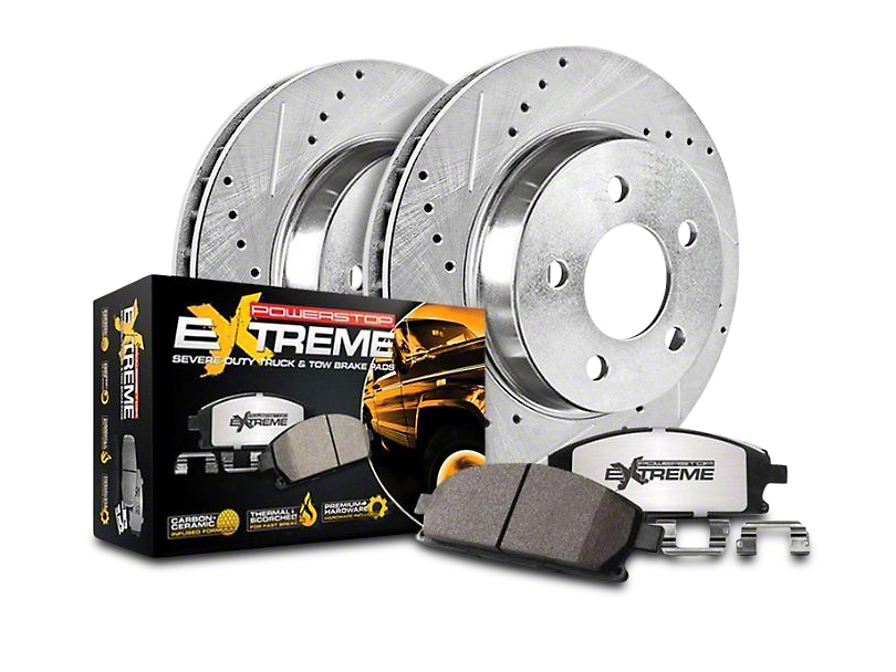 Power Stop Z36 Extreme Truck & Tow Brake Rotor & Pad Kit - Rear (14-18 Sierra 1500)