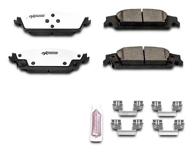 Power Stop Z36 Extreme Truck & Tow Carbon-Ceramic Brake Pads - Rear Pair (14-18 Sierra 1500)