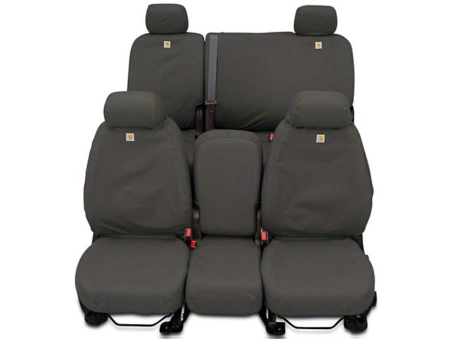 Covercraft SeatSaver Front Seat Cover; Carhartt Gravel (14-18 Sierra 1500 w/ Bench Seat)