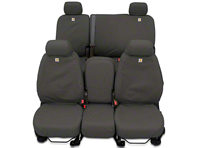 Covercraft Carhartt Seat Saver Front Seat Covers - Gravel (14-18 Sierra 1500 w/ Bench Seat)