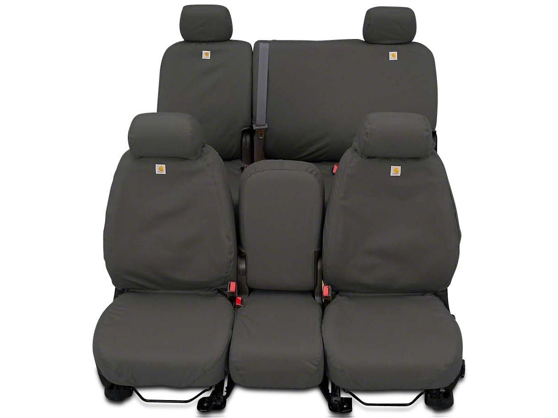 Covercraft Carhartt SeatSaver Front Seat Covers - Gravel (14-18 Sierra 1500 w/ Bench Seat)
