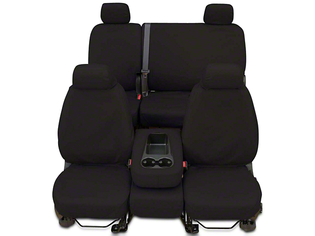 Covercraft SeatSaver Front Seat Cover; Charcoal Black (14-18 Sierra 1500 w/ Bench Seat)