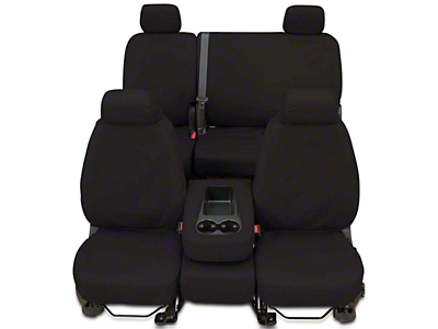 Covercraft Seat Saver Front Seat Covers - Charcoal (14-18 Sierra 1500 w/ Bench Seat)