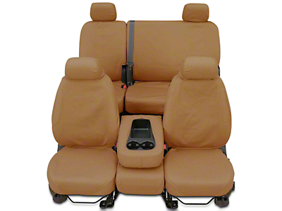 Covercraft Seat Saver 2nd Row Seat Cover - Tan (14-18 Sierra 1500 Double Cab, Crew Cab)