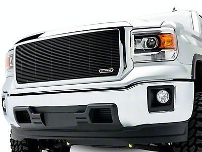 T-REX Billet Series Upper Grille Insert - Black (14-15 Sierra 1500, Excluding Denali)