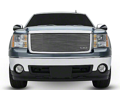 T-REX Billet Series Upper Grille Insert - Polished (07-13 Sierra 1500 w/ All-Terrain Package)