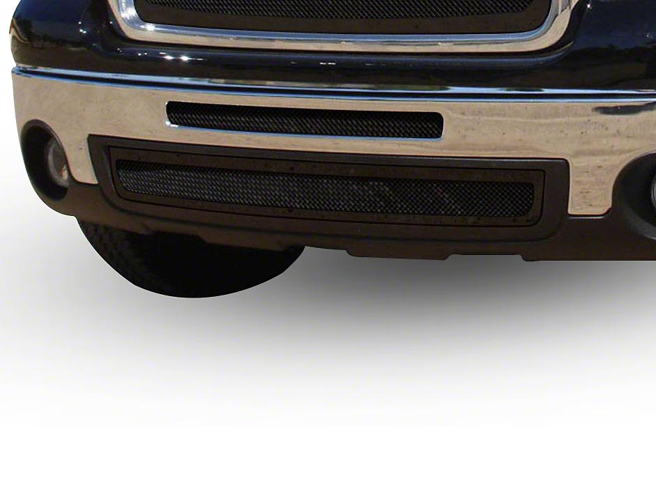 T-REX Upper Class Series Top Opening & Lower Air Dam Bumper Grille Inserts - Black (07-13 Sierra 1500)