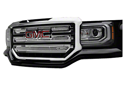T-REX Upper Class Series Upper Overlay Grilles - Polished (16-18 Sierra 1500 Base, SLE)