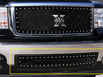T-REX X-Metal Series Lower Bumper Grille Insert - Black (07-13 Sierra 1500)