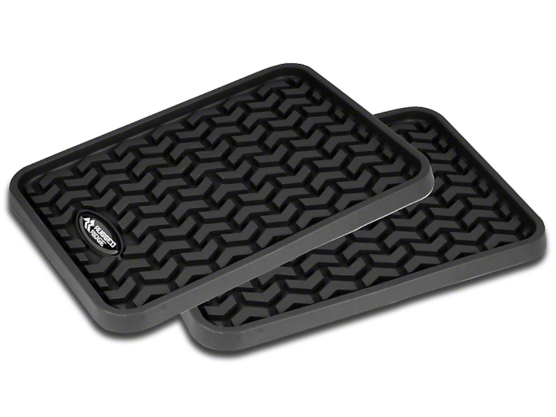Rugged Ridge Rear Floor Mats - Black (07-18 Sierra 1500 Extended/Double Cab, Crew Cab)