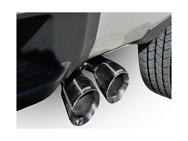Corsa 3-Inch Sport Single Exhaust System with Twin Polished Tips; Side Exit (14-18 5.3L Sierra 1500)