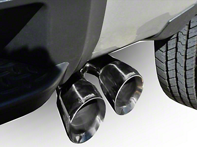 Corsa 3 in. Sport Single Exhaust System w/ Twin Polished Tips - Side Exit (14-18 5.3L Sierra 1500)