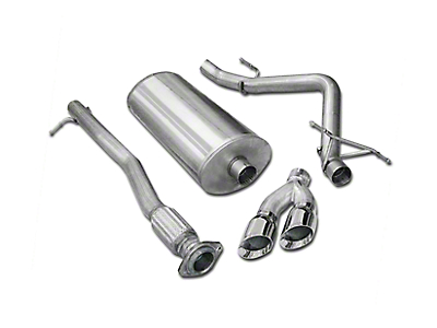 Corsa 3 in. Sport Single Exhaust System w/ Twin Polished Tips - Side Exit (10-13 6.2L Sierra 1500)