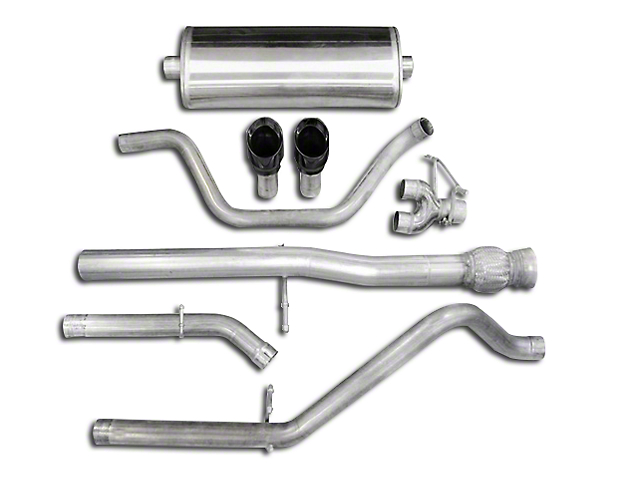 Corsa 3 in. Sport Dual Exhaust System w/ Black Tips - Rear Exit (10-13 6.2L Sierra 1500)
