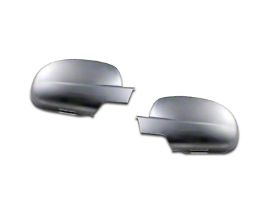 Chrome Tape-On Mirror Covers w/ Courtesy Light Cutout (07-13 Sierra 1500 w/ Standard Mirrors)