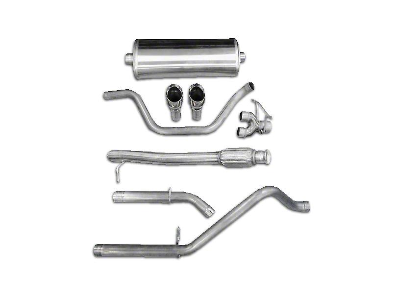 Corsa 3 in. Sport Dual Exhaust System w/ Polished Tips - Rear Exit (10-13 6.0L Hybrid Sierra 1500)