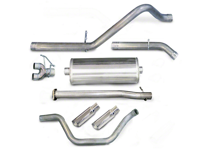 dB Performance by Corsa 3 in. Sport Dual Exhaust System w/ Polished Tips - Rear Exit (07-13 4.8L Sierra 1500)