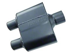 Flowmaster Super 10 Series Center/Dual Out Oval Muffler; 3-Inch / 2.50-Inch (Universal; Some Adaptation May Be Required)