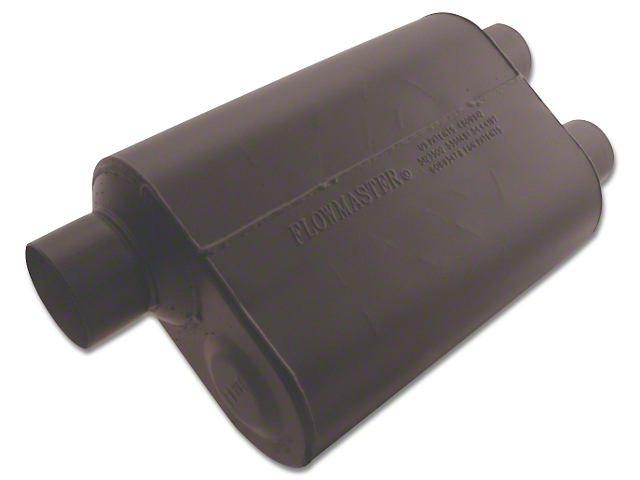 Flowmaster Super 40 Series Offset/Dual Out Oval Muffler; 3-Inch / 2.50-Inch (Universal Fitment)