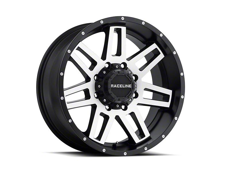 Raceline Injector Black Machined 6-Lug Wheel; 17x8.5; 18mm Offset (07-20 Sierra 1500)