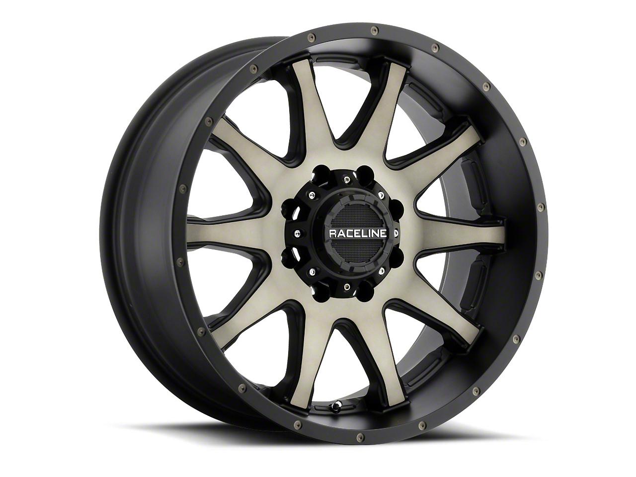 Raceline Shift Black Machined w/ Dark Tint 6-Lug Wheel - 17x8.5 (07-18 Sierra 1500)