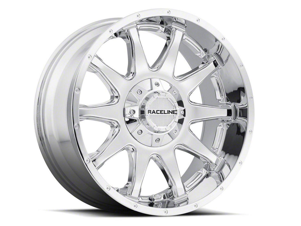 raceline sierra shift chrome 6 lug wheel 20x12 930c 21266 44 07  raceline shift chrome 6 lug wheel 20x12 07 19 sierra 1500
