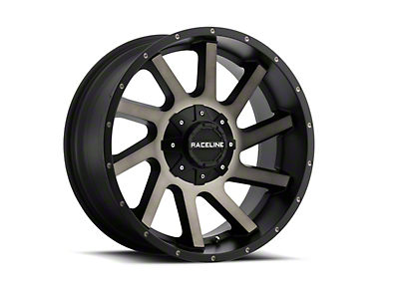 Raceline Twist Black Machined w/ Dark Tint 6-Lug Wheel - 20x12 (07-18 Sierra 1500)