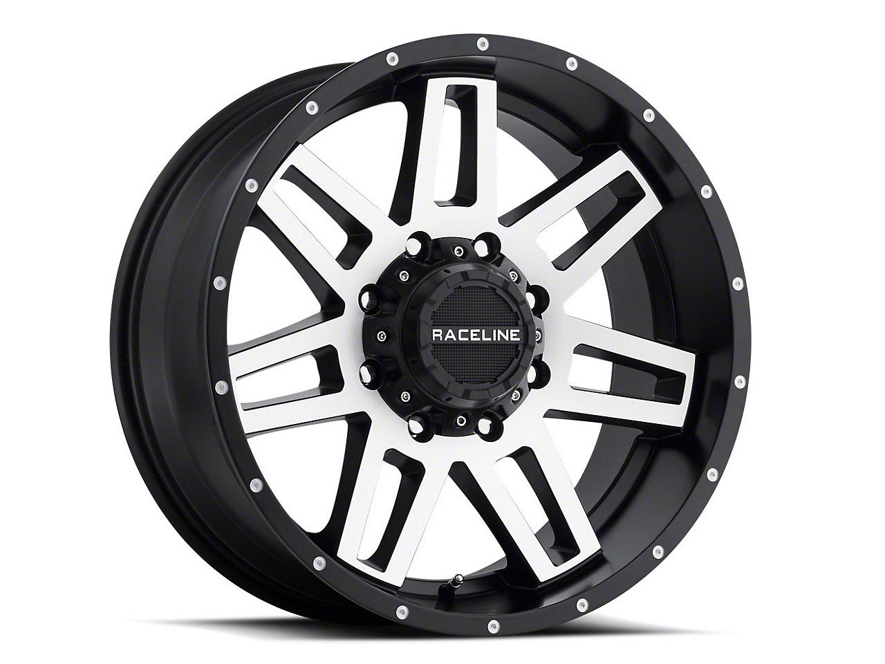 Raceline Injector Black Machined 6-Lug Wheel - 17x9 (07-18 Sierra 1500)