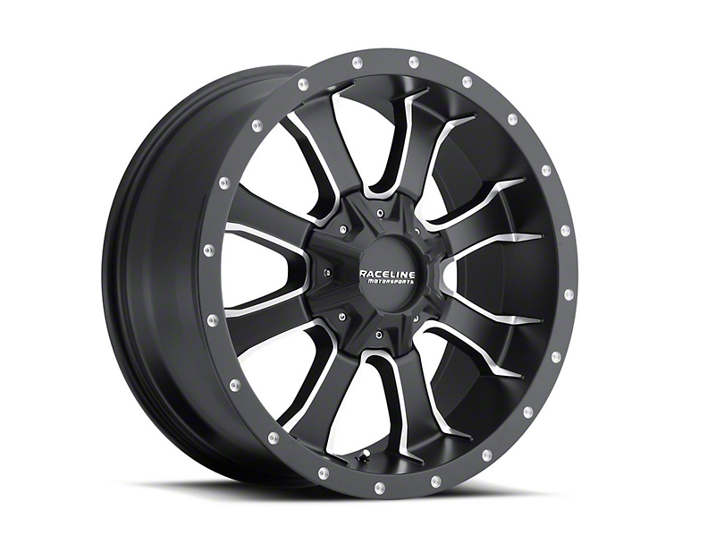 Raceline Mamba Black Milled 6-Lug Wheel -17x9 (07-18 Sierra 1500)