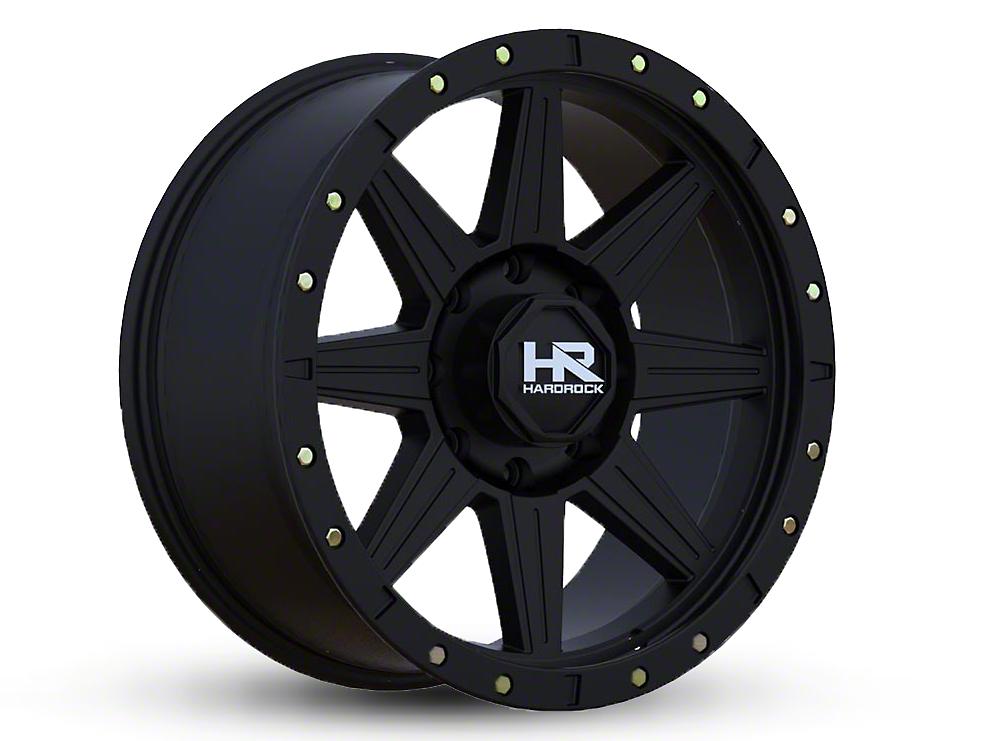 Hardrock Offroad H100 Matte Black 6-Lug Wheel - 18x9 (07-18 Sierra 1500)