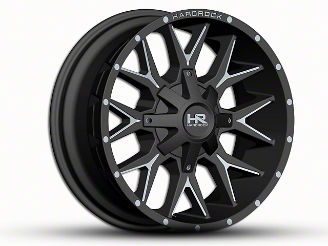 Hardrock Offroad H700 AFFLICTION Black Milled 6-Lug Wheel - 20x9 (07-19 Sierra 1500)