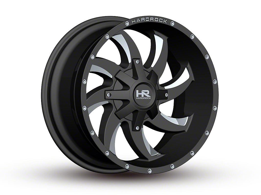 Hardrock Offroad H700 AFFLICTION Black Milled 6-Lug Wheel - 20x10 (07-18 Sierra 1500)