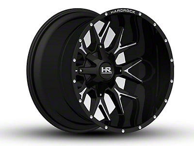 Hardrock Offroad H700 AFFLICTION Black Milled 6-Lug Wheel - 22x14 (07-18 Sierra 1500)