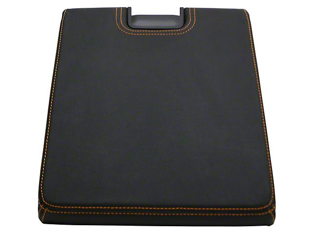 Alterum Center Console Top Lid - Black w/ Gold Stitching (07-13 Sierra 1500 w/ Bench Seat)