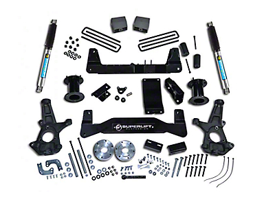 SuperLift 6.5 in. Suspension Lift Kit w/ Bilstein Shocks (14-18 4WD Sierra 1500, Excluding Denali)