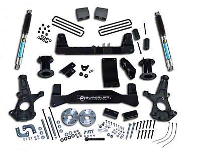 SuperLift 6.5 in. Suspension Lift Kit w/ Bilstein Shocks (07-13 4WD Sierra 1500)
