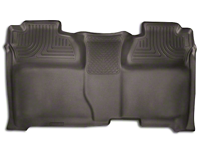 Husky X-Act Contour 2nd Seat Floor Liner - Full Coverage - Cocoa (14-18 Sierra 1500 Double Cab, Crew Cab)