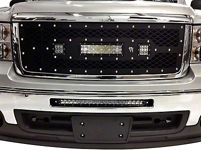 Rigid Industries D-Series & E-Series LED Upper Replacement Grille - Black (11-13 Sierra 1500)