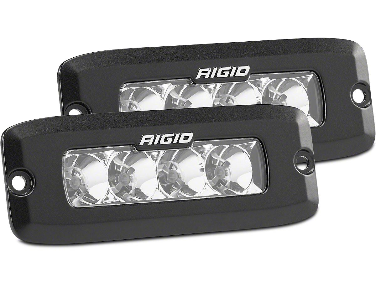 Rigid Industries SR-Q Series Flush Mount LED Light Bars - Flood Beam - Pair
