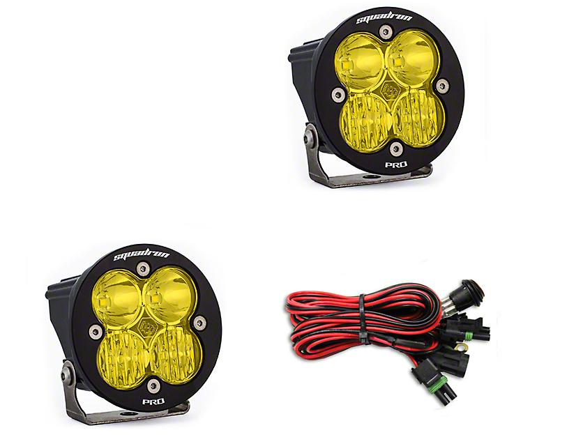 Baja Designs Squadron-R Pro Amber LED Light - Driving/Combo Beam - Pair