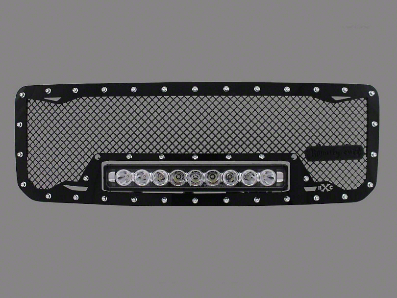 Royalty Core RC1X Incredible Upper Replacement Grille w/ 19 in. LED Light Bar - Black (07-13 Sierra 1500)