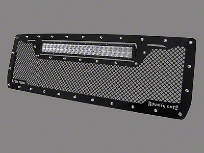 Royalty Core RCRX Race Line Upper Replacement Grille w/ Top Mounted 23 in. LED Light Bar - Black (07-13 Sierra 1500)