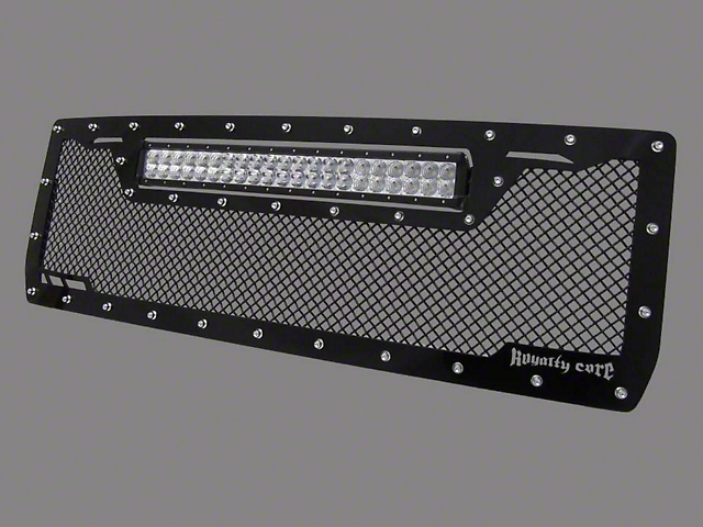 Royalty Core RCRX Race Line Upper Replacement Grille w/ Top Mounted 23 in. LED Light Bar - Black (14-15 Sierra 1500)