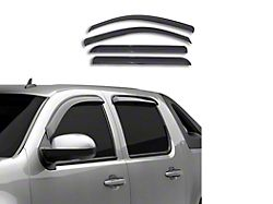 Tape-On Rain Guards; Front and Rear; Smoke (14-18 Sierra 1500 Double Cab)