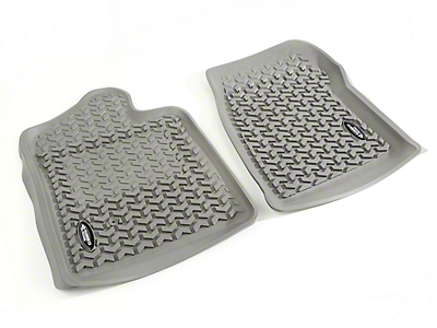 Rugged Ridge All-Terrain Front Floor Liners - Gray (07-13 Sierra 1500)